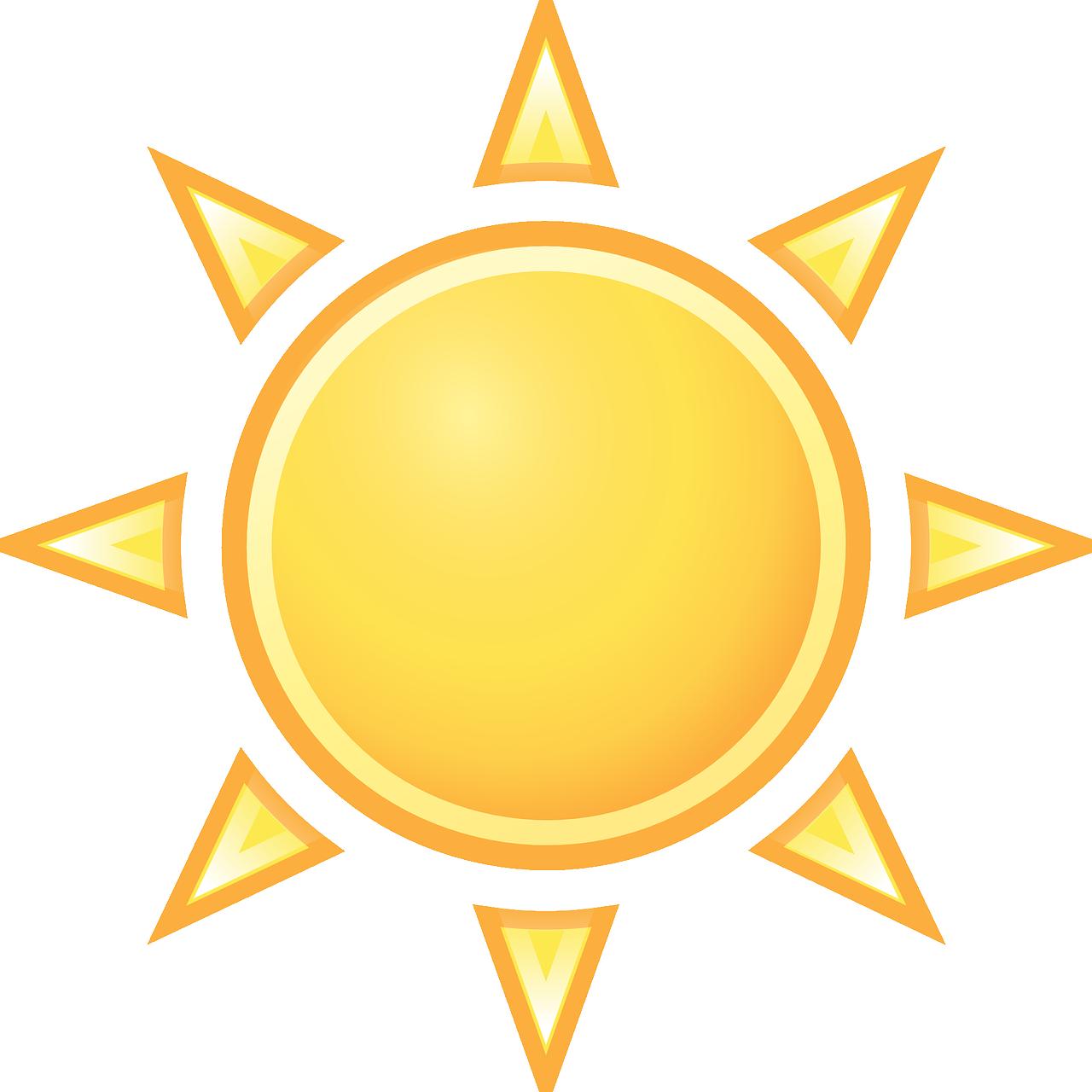 warm, sunny, sun